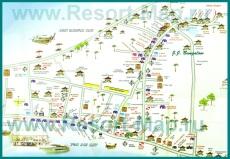 Туристическая карта острова Пхи-Пхи с отелями