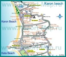 Карта отелей Карона