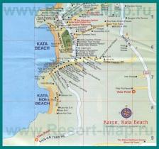 Карта Ката Бич с отелями
