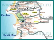 Карта отелей Ката