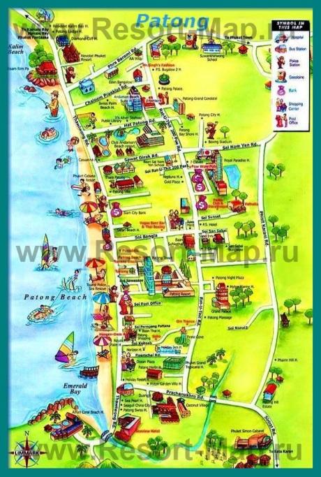 Туристическая карта Патонга