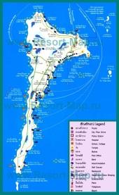 Туристическая карта острова Ко Самет
