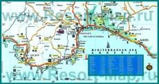 Карта побережья Анталии