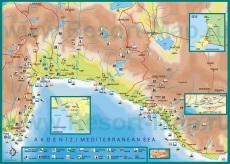 Карта районов Анталии