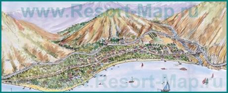 Туристическая карта курорта Бельдиби