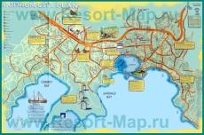 Подробная карта Бодрума с достопримечательностями
