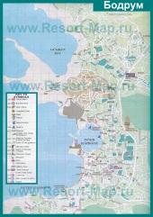 Туристическая карта города Бодрум