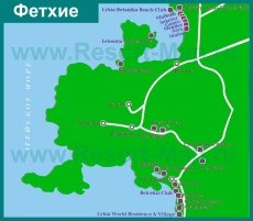 Карта отелей Фетхие