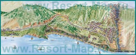 Туристическая карта курорта Гейнюк