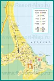 Подробная карта города Кемер