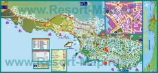 Подробная туристическая карта Кушадас