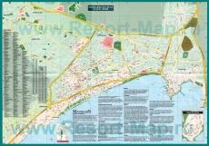 Туристическая карта Мармариса с отелями и достопримечательностями