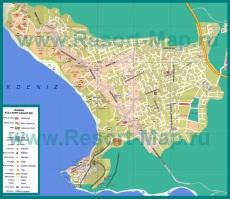 Подробная карта города Сиде