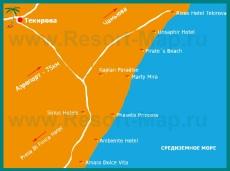 Карта отелей Текирова