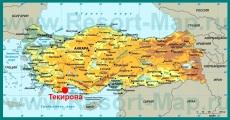 Текирова на карте Турции
