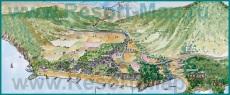 Туристическая карта курорта Текирова