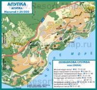 Карта города Алупка с Санаториями