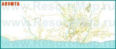 Подробная карта Алушты с улицами и номерами домов