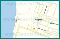 Подробная карта поселка Андреевка с улицами