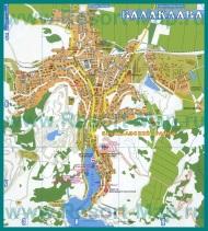 Туристическая карта Балаклавы с достопримечательностями