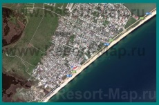 Подробная спутниковая карта поселка Береговое