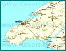 Карта поселка Черноморское с окрестностями