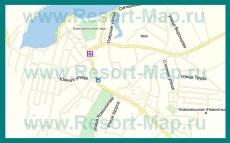 Подробная карта пгт Черноморское с улицами