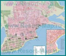 Подробная карта Евпатории с улицами и домами