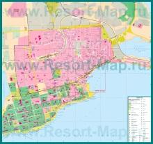 Подробная карта города Евпатория