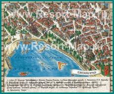 Туристическая карта Евпатории с достопримечательностями