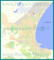 Подробная карта города Феодосия с улицами и номерами домов