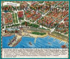 Туристическая карта Феодосии с достопримечательностями