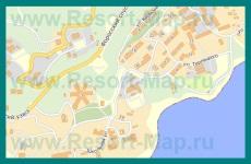 Подробная карта Фороса с улицами и домами