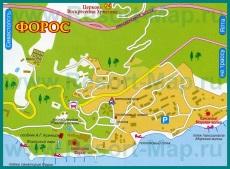 Туристическая карта города Форос