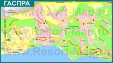 Туристическая карта Гаспры с санаториями