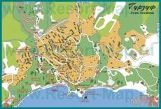 Подробная карта города Гурзуф