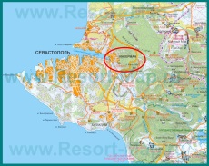 �нкерман на карте Севастополя