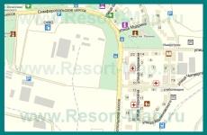 Подробная карта поселка Инкерман с улицами и домами