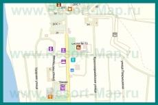 Подробная карта поселка Кача с названиями улиц и домами