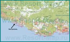 Карта Кастрополя с окрестностями