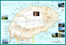 Подробная карта мыса Казантип