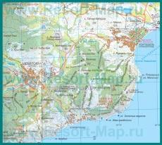 Карта Курортного с окрестностями