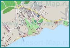 Карта поселка Курортное с улицами