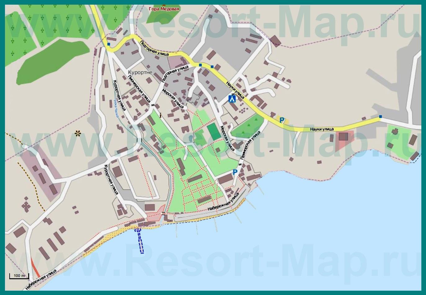Карта Межводного С Улицами И Номерами Домов
