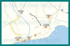 Подробная карта Курортного с пансионатами