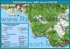Туристическая карта бухты Ласпи