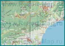 Подробная карта Лисьей Бухты с окрестностями