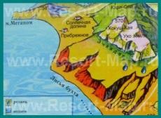 Туристическая карта Лисьей Бухты