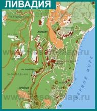 Подробная карта курорта Ливадия