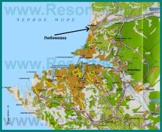 Любимовка на карте Севастополя